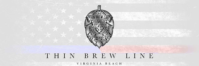 Thin Brew Line (Faded Flag Logo-Blue-Red
