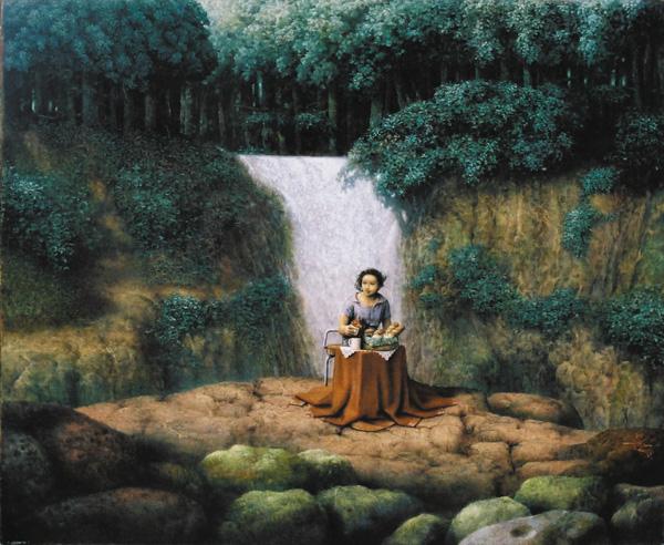 滝で待ち合わせ