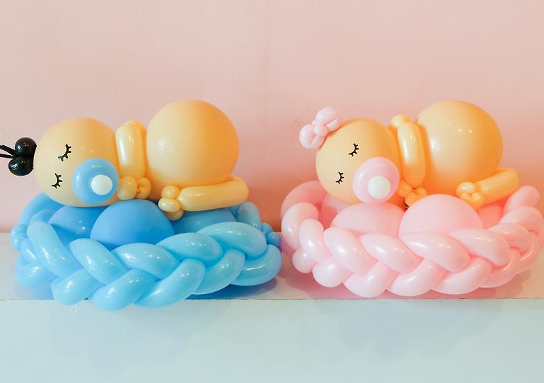 Sleeping Baby Balloon Twist