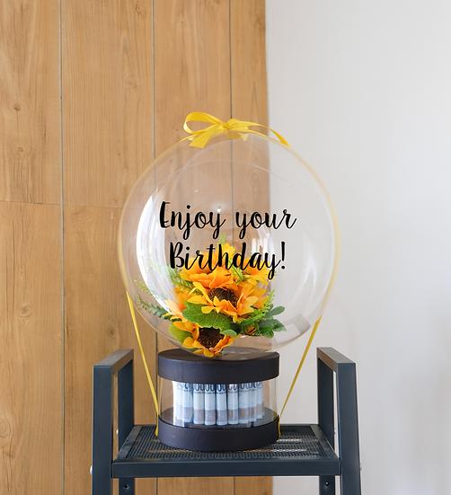 Joyful Money Box with Flowers