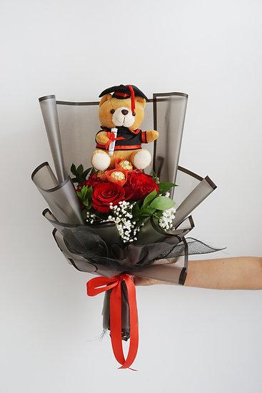 Happy Graduation Red Bouquet