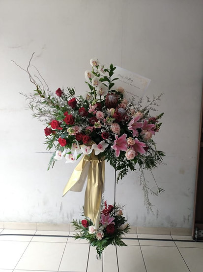 Sweet Standing Arrangement Import & Local Flowers