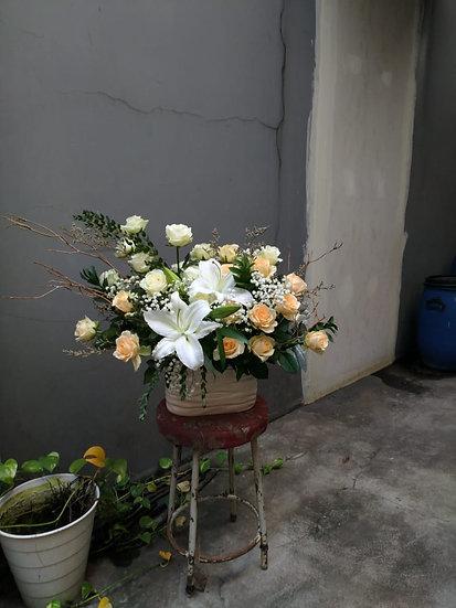 Lily & Rose Arrangement (M/L)