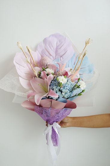 Colorful Monstera Flower Bouquet