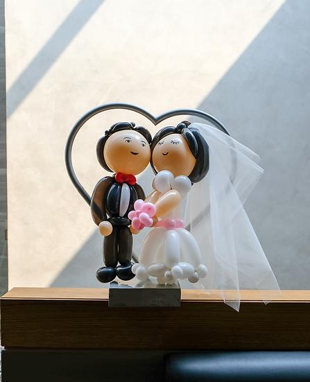 Groom Bride Love Mini Loop
