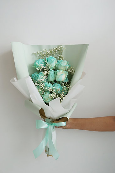 Turqouise Roses Bouquet