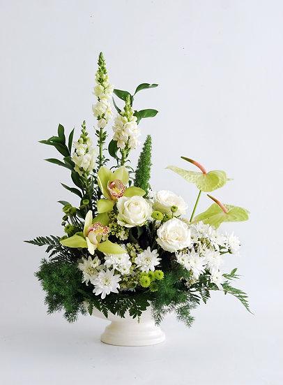 Minty Fresh Flower Vase