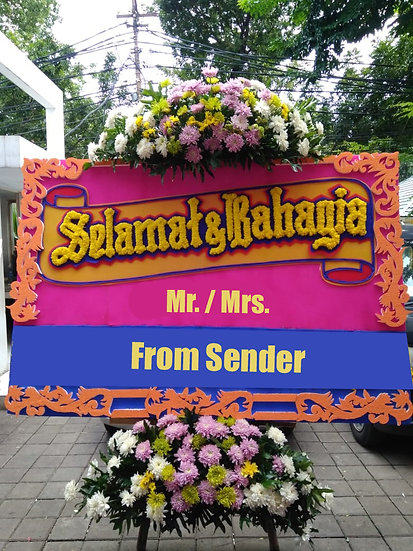 Medium Flower Board (Bunga Papan) Happy/Sad Occassion