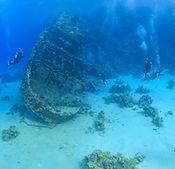 Épave dans la mer