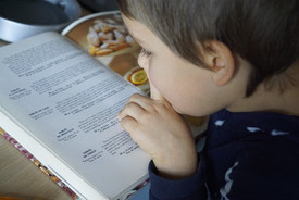 Practicing reading with the recipe
