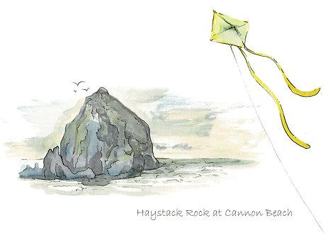 Haystack Greeting Card