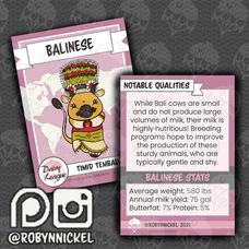 Balinese Trading Card