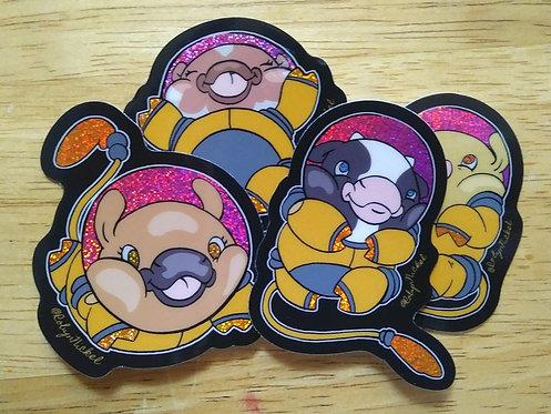 Cowsmonaut Sticker Packs