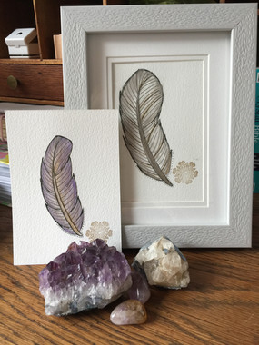 Grey Angel feather