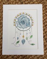 Blue Rose Dreamcatcher