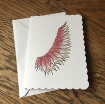 Rose Angel Wing Card