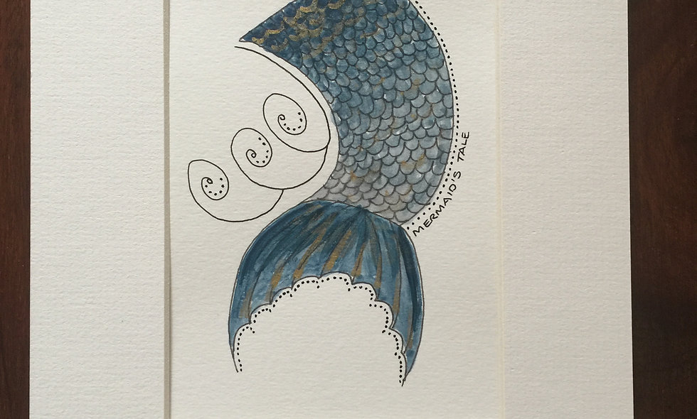 Blue mermaids tail