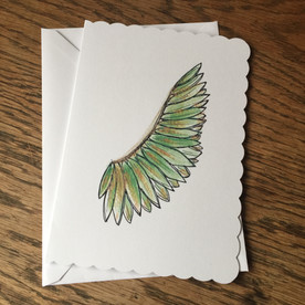 Green Angel Wing Card