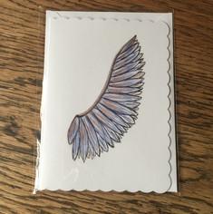 Purple Angel Wing Card