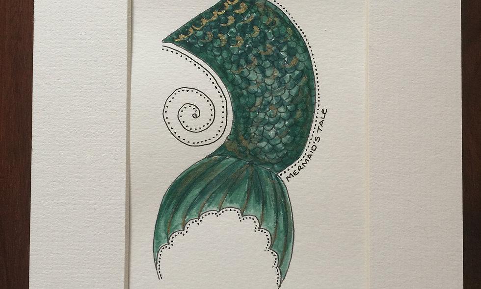 Green mermaids tail