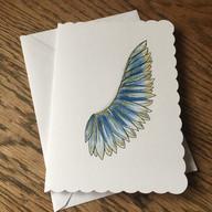 Blue Angel Wing Card