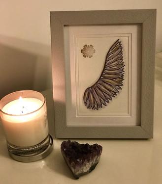 Purple Angel Wing
