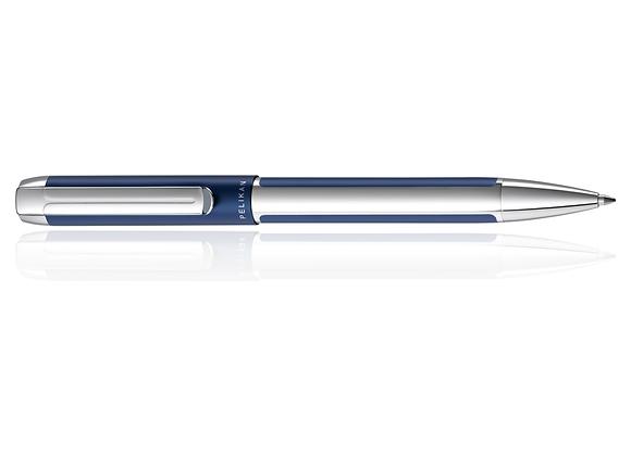 Pelikan Pura, Blue/Silver Ballpoint Pen, Medium Refill