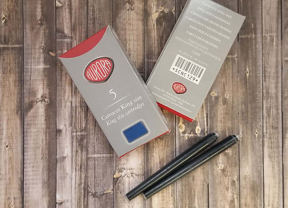 Aurora Ink Cartridges, Blue Ink, 5 Cartridges per Pack