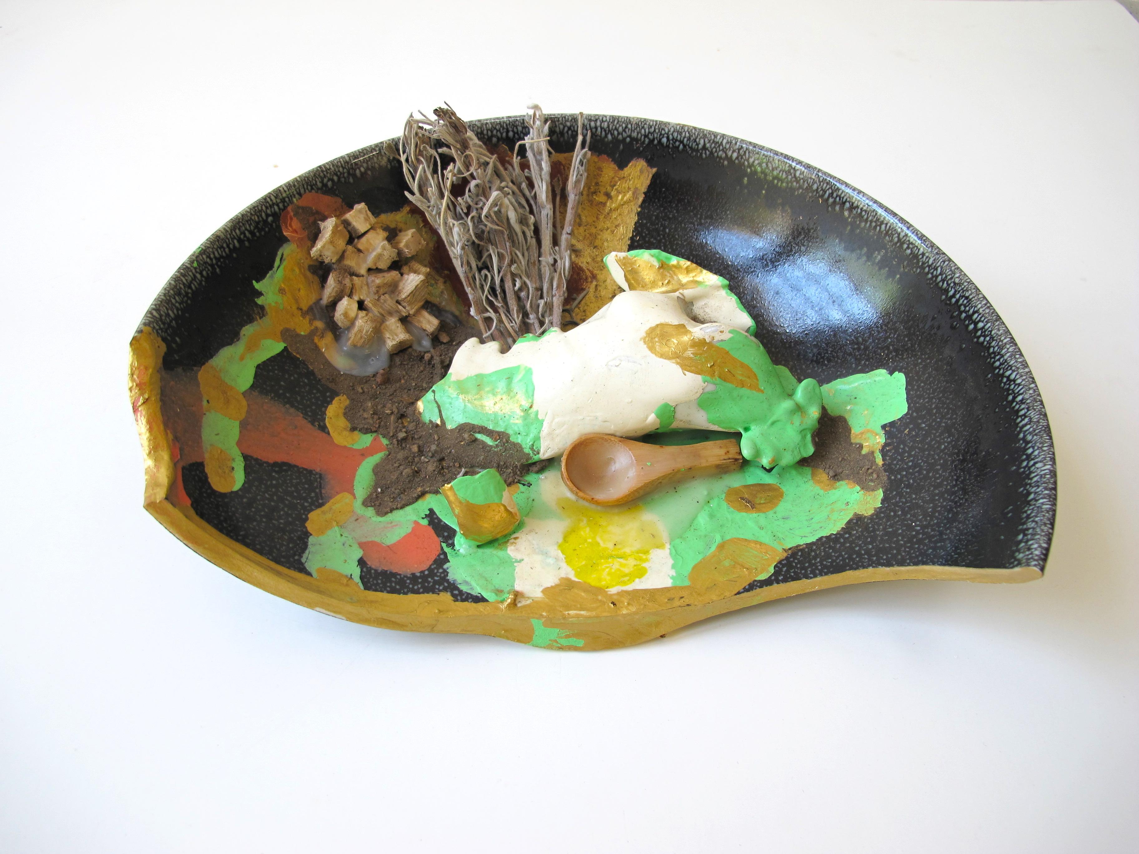 chicken bowl with sage and kudzu