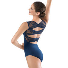 Floral Lace Pinch Back Leotard