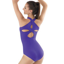 Tank Leotard with Crossover Back