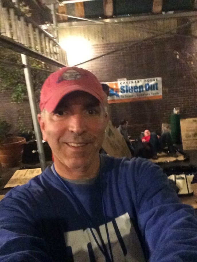 Jim Giangrande at Covenant House Sleep Out