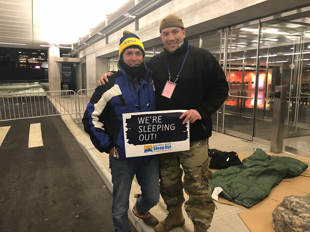 Jim Giangrande and Charles Paksi at Covenant House NYC Sleep Out