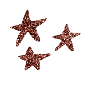 Dark Pink Glitter Stars