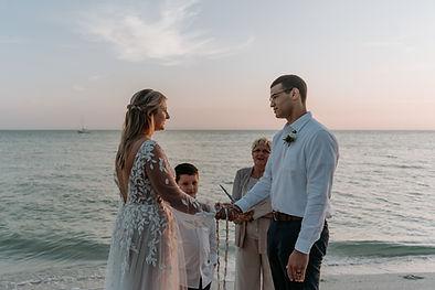 Intimate sunrise elopement on Anna Maria Island