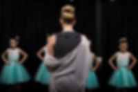 Ballet dancers at Dance Co's danceLab show with Miss Jennifer