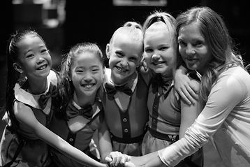 Dance Co Tap dancers in handmade costumewith Marlowe Windsor