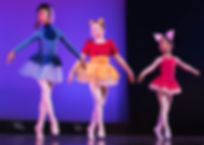 Dance Co's Ballet dancers onstage at recital