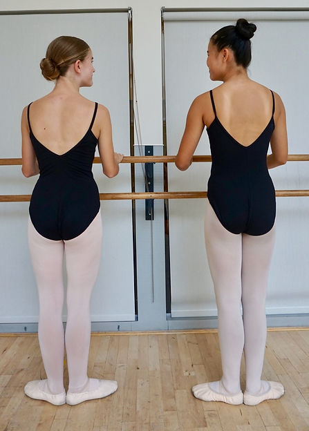 Emilie & Ruby at the barre