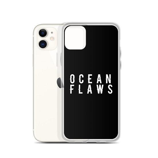 Ocean Flaws iPhone Case (black)