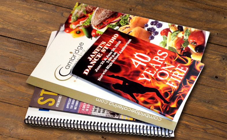 catalog, book, spiral