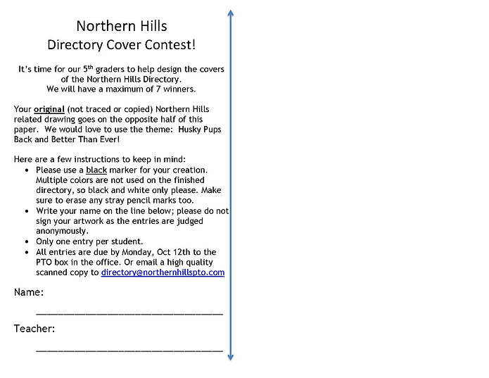 Northern Hills Directory Cover Contest 2