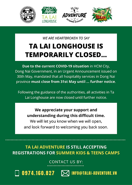ta lai longhouse is temporarily closed d