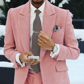 Textile: Tweed jacket. Cotton pants  Product: Suit