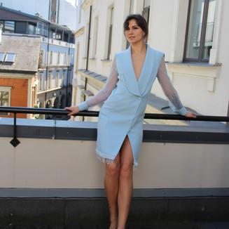 Textile: Wool Product: Shawl lapel coat dress