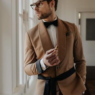 Textile: Cashmere wool Product: Shawl lapel suit