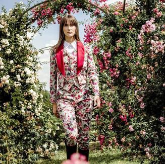 Product: 3 piece suit. Textile: 10% Velvet 90% Cotton stretch   PIC: Agneta Jonele STYLIST: Elina Rodolvska MODEL: Nastya Choo