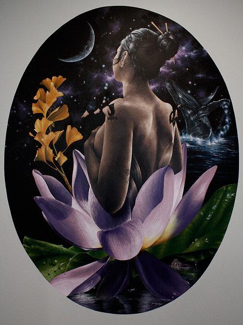Sacred Demoiselle Lotus (Print)