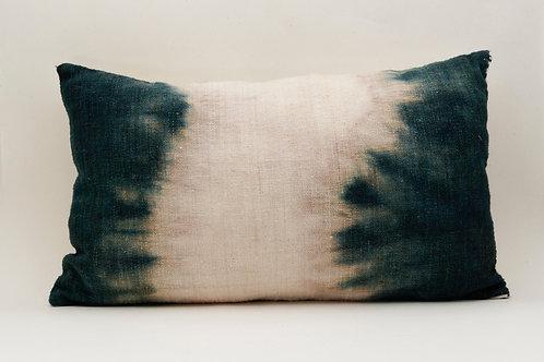 Sides dip-dye Mallard Blue pillow- 55x35 cm