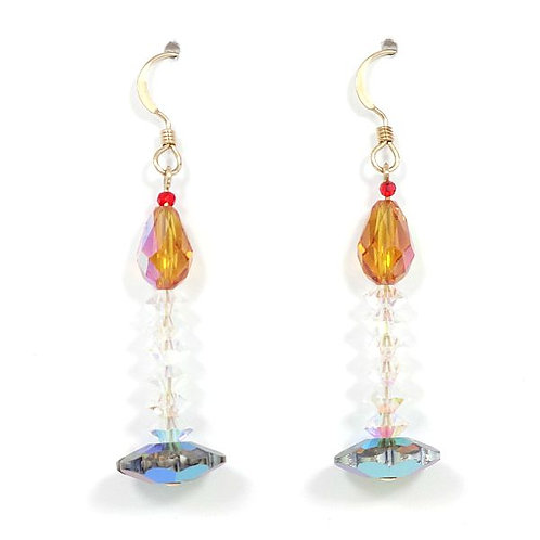 SWAROVSKI CRYSTAL HOLIDAY CANDLE EARRINGS